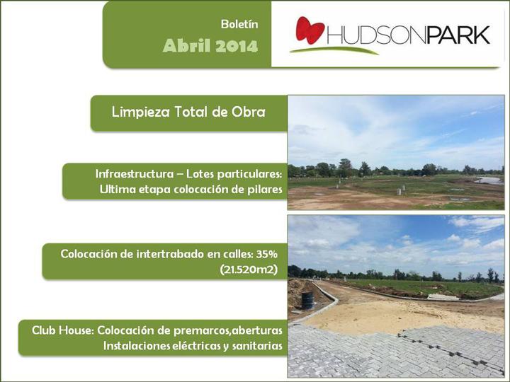 Boletín Abril 2014 – Avances de obra